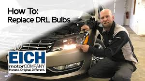 how to replace daytime running lights on a vw jetta or passat