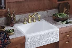 Self Trimming Apron Front Sink by Sink Amazing Top Mount Apron Sink Porcelain Farmhouse Sink Apron