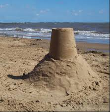 Sand Castle Made By Overturning A Pail Full Of Wet