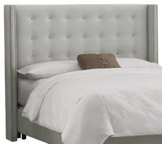 milton greens stars darcy pu platform bed with tufted headboard