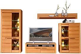 nature plus wohnwand komplett set teil massiv aus kernbuchenholz moderne schrankwand für ihr wohnzimmer 320 x 185 x 45 cm b h t
