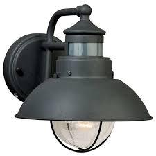 black motion sensing outdoor wall mounted lighting pertaining to