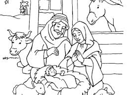 Jesus Birth Coloring Pages Nativity Colouring Printable New Calendar Template