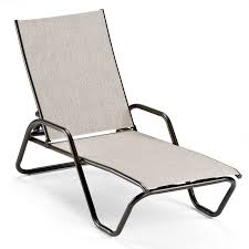 Stack Sling Patio Lounge Chair Tan by Telescope Casual Gardenella Sling Stackable Armless Chaise Lounge