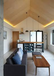 wooden pitch with side lights beleuchtung wohnzimmer decke
