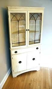 Corner Cabinet Dining Room Tall White Marvelous Best