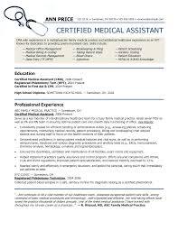 2016 Sample Resume For Medical Assistant