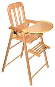 chaise bebe bois chaise haute pour bébé en bois ouistitipop