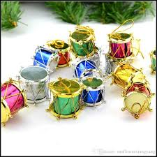 Ful Christmas Tree Decorations Drum Pendant Ornament Plastic For Home Wooden