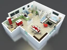 plan maison bel étage en 3d modèle kea cuisine ouverte grand