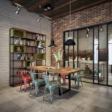 Loft Living Room Design With Modern Industrial Style Maybe