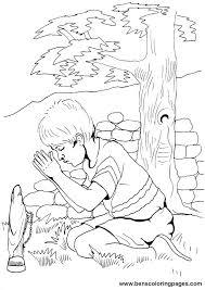 Interesting Prayer Coloring Pages Print Christian Kid Boy Praying Bible Page Kids