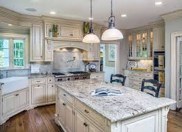 Awesome White Country Kitchen Cabinets Images