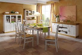 esszimmer 10teilig tisch 160x90 6 stühle highboard sideboard buffetschrank kiefer massiv 2farbig weiß lasiert gelaugt geölt casade mobila
