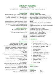 Experience Section On Resume Examples And Example 1 For Create Awesome No Work 385