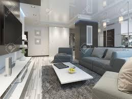 luxus wohnzimmer studio in einem modernen stil mit bequemen sesseln und einem sofa in olivgrün studio wohnung mit küche und wohnzimmer und einen flur