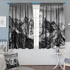 Black And WhiteBlackout CurtainDramatic View Of The Mountains Himalayas Peak Landscape Traveling
