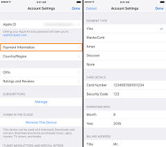Changing your Apple ID credit card info directly from your iPhone