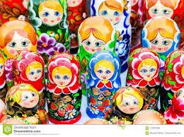 100 Matryoshka Kitchen Russian Traditional Wooden Doll Stock Photo