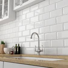 White Kitchen Tiles Ideas Glossy Kitchen Wall Tiles