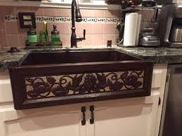 33x22 Copper Kitchen Sink by Eden Two Tone Copper Farmhouse Sink Copper Sinks Online