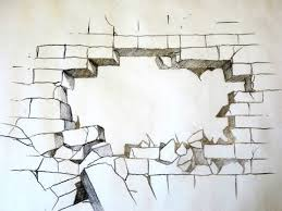 How To Draw A Broken Brick Wall The Original