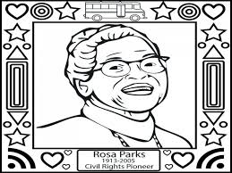 Rosa Parks Coloring Page Avedasenses Line Drawings