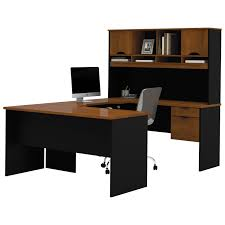 L Shaped Computer Desk With Hutch by Innova Contemporary U Shaped Desk With Hutch Tuscany Brown Black