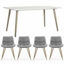 details zu esstisch 4 stühle essgruppe tischgruppe küchentisch tisch eiche grau homestyle4u