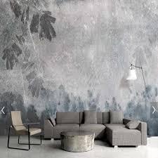 vintage retro stil grau blätter tapete wandbild wand dekor malen für wohnzimmer schlafzimmer benutzerdefinierte landschaft wandmalereien künstler