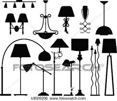 Clip Art Of Lamp Design For Floor Ceiling Wall K9026206