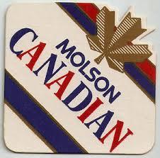16 Molson Canadian Light Die Cut Beer Coasters