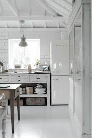 White Country Style Kitchen Love The Vintage SMEG Fridge