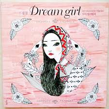 96 Pages Korea Dream Girl Coloring Book For Children Adults Relieve Stress Fashion Painting Drawing Antistress