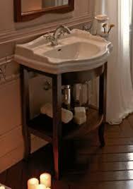 details zu waschtisch retro 69 cm unterschrank offen waschbecken nostalgie antik vintage