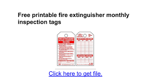 Free Printable Fire Extinguisher Monthly Inspection Tags