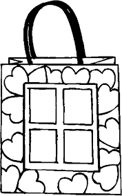 Gift Bag Love Coloring Page