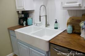 Bathroom Sink Not Draining Fast Enough by Ikea Farmhouse Sink The Everyday Home