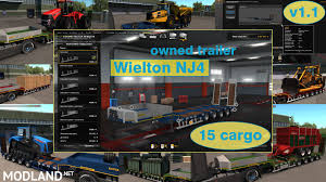 Ownable Overweight Trailer Wielton NJ4 V 1.1 Mod For ETS 2