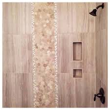 Sliced Pebble Tiles Uk by Love The Tile Work In Our New Shower The 24x12 Tiles Were