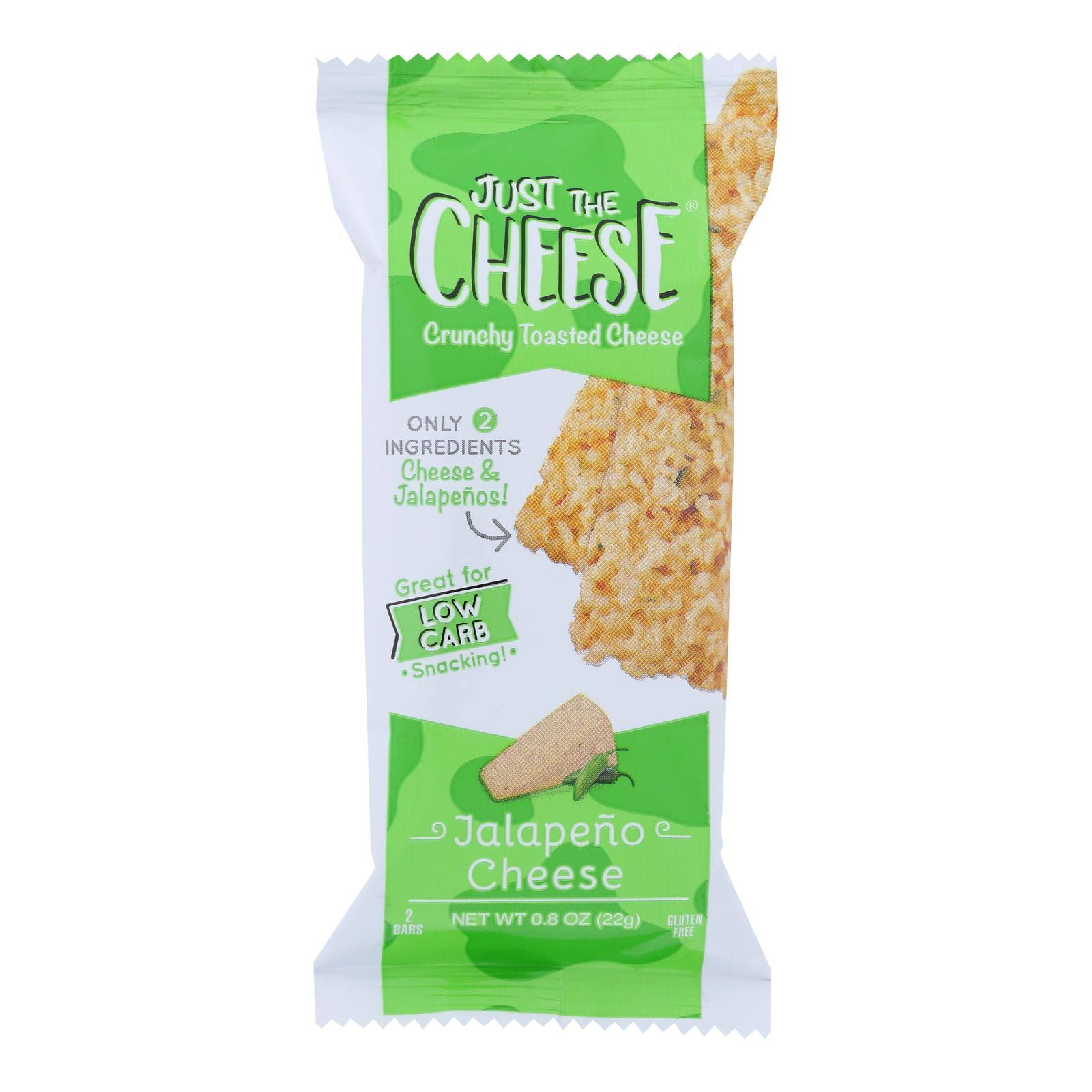 Just The Cheese Cheese, Jalapeno, Toasted, Crunchy - 2 bars, 0.8 oz