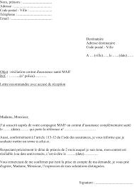 siege maif modèle de lettre de résiliation assurance complémentaire santé maif