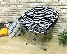 Microsuede Folding Saucer Chair by Moon Chair Ebay