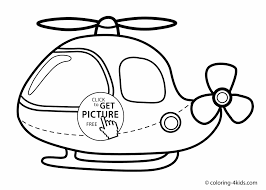 Helicopter Coloring Page For Kids Printable Free Books