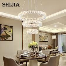 Art Decor Ring Circle Crystal Chandelier Lighting For Dining Room Restaurant Living Bedroom Led Pendant