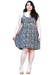 I Want This Black Diamond Print Plus Size Summer Casual Party Dresses