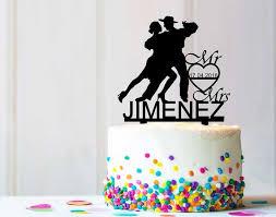 herr und frau tanzen hochzeit geburtstag partei kuchen topper rustikale einzigartige cake topper personalisieren benutzerdefinierte design c0209k