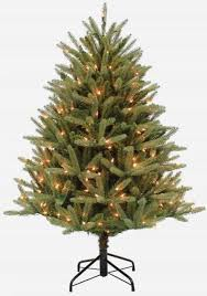 45 Ft Artificial Crestwood Fir Christmas Tree Pre Lit 300 Lights