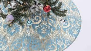 Seashell Christmas Tree Skirt by Teal Christmas Tree Skirt Home Decorating Interior Design Bath