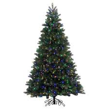 8ft Pre Lit LED Artificial Christmas Tree Full Natural Alpine
